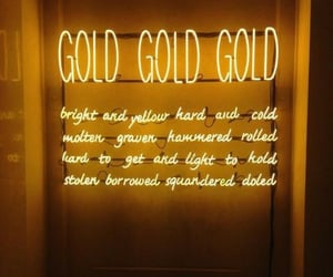 aesthetic, gold, and yellow image