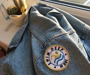 aesthetic, denim jacket, and swim team image