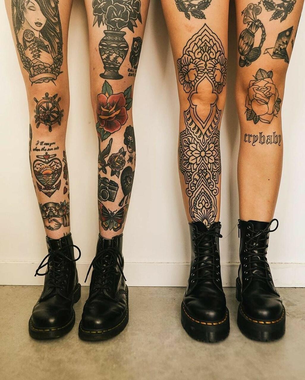 tattoo, grunge, and inked image