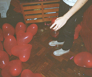 balloons, red, and party image