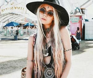 fashion, girl, and coachella image