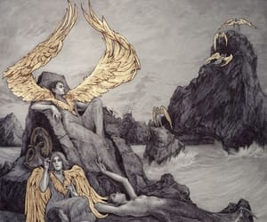 angel, gold, and mermaid image