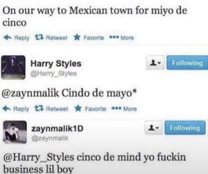 Harry Styles, twitter, and zayn malik image