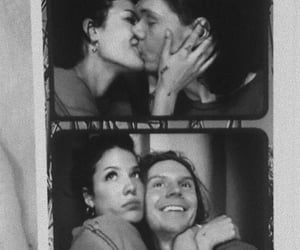 halsey, evan peters, and couple image