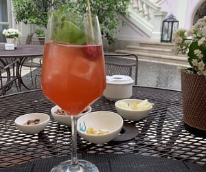 cocktail, traveling, and aperol spritz image