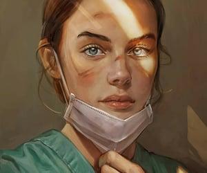 art, doctor, and nurse image
