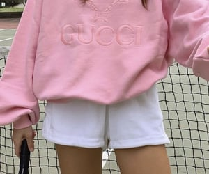 pink, gucci, and tennis image