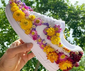 colorful, sneakers, and blooming image