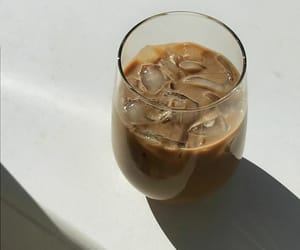 coffee, iced, and lover image