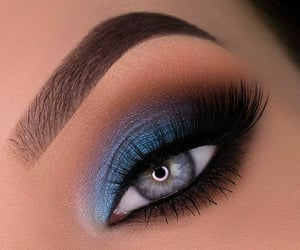beauty, blue, and blue eyeshadow image