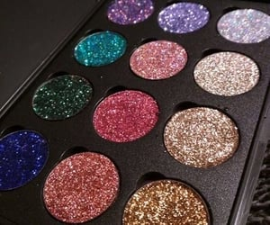 beauty, makeup, and glitter image