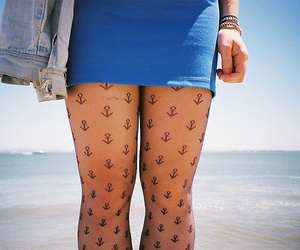 girl, anchor, and tights image