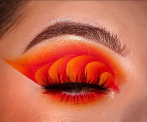 eyeshadow, orange, and colorful image