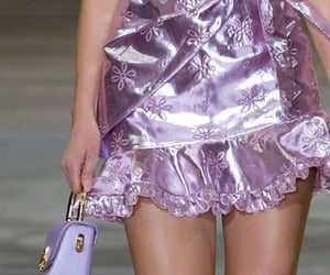 fashion show, pastel, and purple image