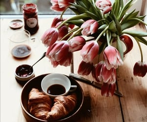 breakfast, flowers, and isolation image