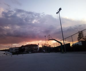 Basketball, clouds, and beautiful image