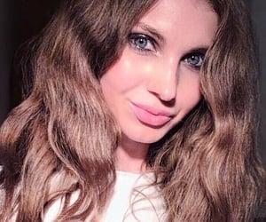 beauty, wavy hair, and blue eyes image