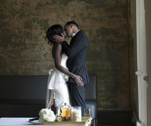 black women, bride groom, and couple image