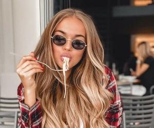 food, girl, and hair image