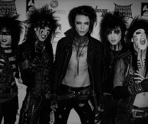 2012, b&w, and black veil brides image