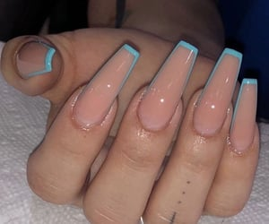 acrylic coffin nails image