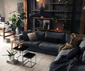 couch, greenery, and pillows image