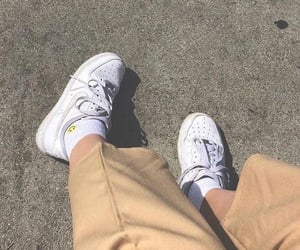 nike, beige, and shoes image