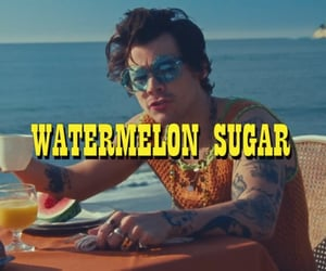 Harry Styles, 🍉, and watermelon sugar image