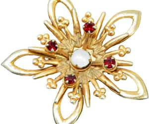 1950s, red, and vintage jewelry image