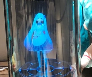 aesthetic, blue, and figurine image