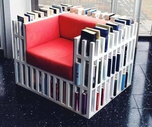awesome, chair, and Libary image