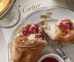 cartier, breakfast, and croissant image