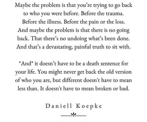 illness, loss, and maybe image