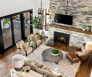 design, fireplace, and living room image