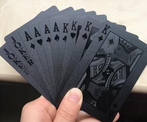 playing cards, pocker, and black cards image