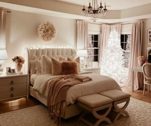 bedroom, blankets, and flowers image