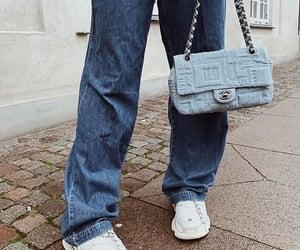 chanel purse, chanel handbag, and balenciaga sneakers image