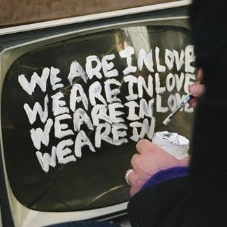 love, tv, and paint image