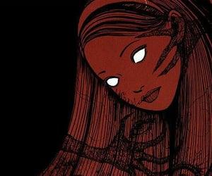 horror, girl, and manga image