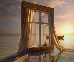 window, sun, and aesthetic image
