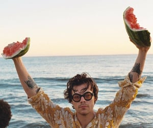 Harry Styles, one direction, and watermelon sugar image