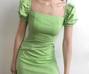 aesthetic, dress, and green image