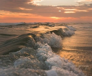 nature, summer, and waves image