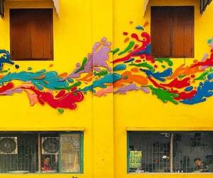 colorful, mural, and colors image