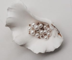 pearls, white, and jewelry image