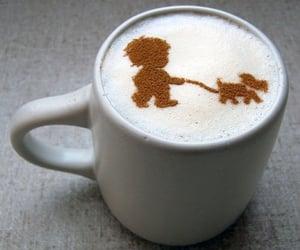 coffee, art, and dog image
