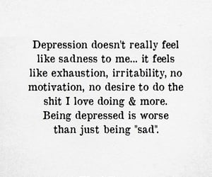 depression, feel, and exhausted image