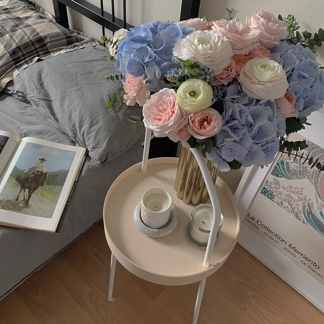 flowers, home, and morning image