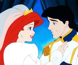 ariel, kiss, and wedding image