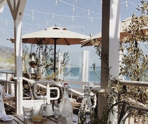 cafe, california, and ocean image